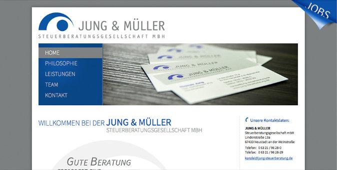Webseite Jung & Müller Steuerberatungsgesellschaft mbH