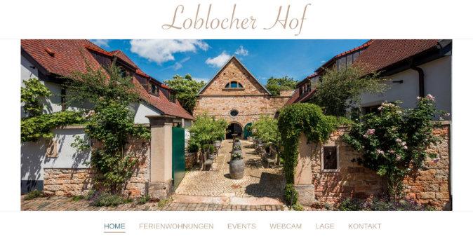 Webseite Loblocher Hof